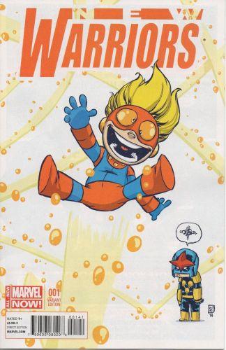 New Warriors #1 Skottie Young Marvel Babies Variant Nova Speedball