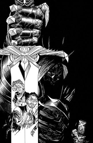 Once and Future #1 Ultimate Comics Exclusive Dan Mora B&W Sketch Variant Boom 2019 500 Copy