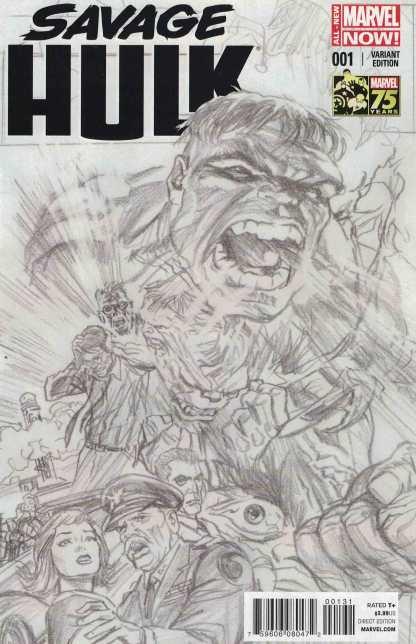 Savage Hulk #1 1:300 Alex Ross Sketch Variant ANMN Marvel 2014