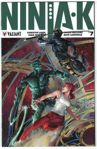 Ninja-K #7 1:20 Crain Interlocking Variant Cover C Valiant 2017 VF/ NM