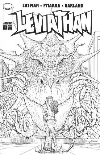 Leviathan #1 1:10 Nick Pittara Sketch Black and White Variant Image 2018