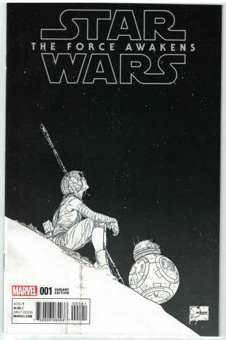 Star Wars Force Awakens Adaptation #1 1:300 Quesada Sketch Variant Fine FN
