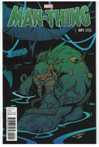 Man Thing #1 1:25 Billy Martin Swamp Variant Marvel 2016 NM-