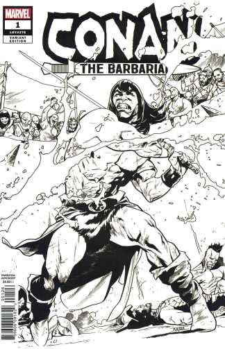 Conan the Barbarian #1 Mahmud Asrar Party Sketch Variant Marvel 2018