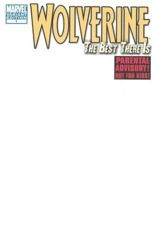 Wolverine Best There Is #1 Blank Sketch Variant Marvel 2011