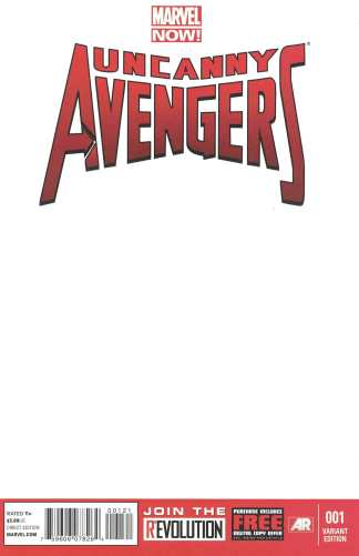 Uncanny Avengers #1 Blank Sketch Variant Marvel NOW 2012