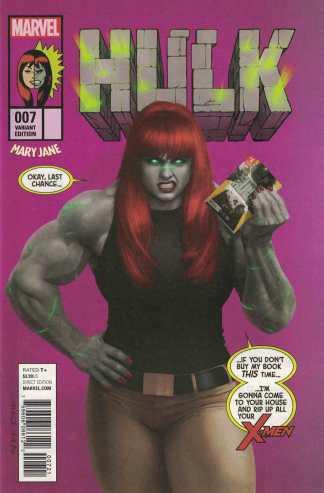 Hulk #7 Razzah Mary Jane Watson John Byrne She-Hulk Homage Marvel 2016