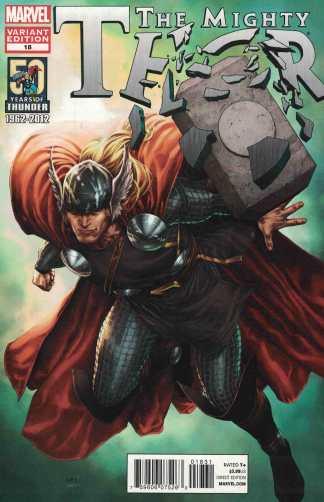Mighty Thor #18 Steve McNiven 50th Anniversary Variant Marvel 2011