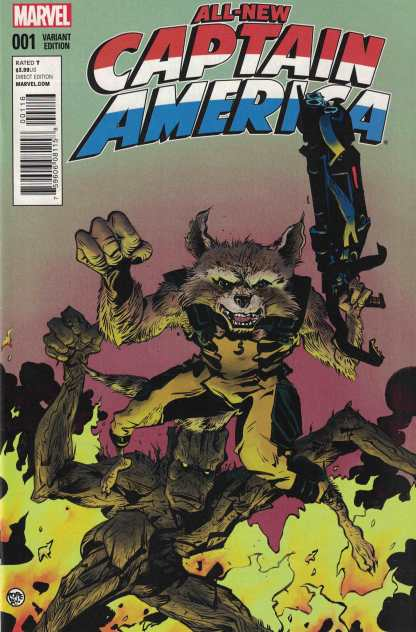All New Captain America #1 Paul Pope Rocket and Groot Variant Marvel 2014