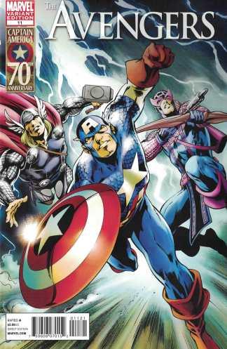 Avengers #11 1:15 Alan Davis Captain America 70th Anniversary Variant 2010