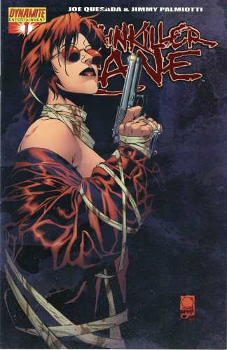 Painkiller Jane #1 Blood Red Foil Cover Dynamic Forces COA Dynamite 2006