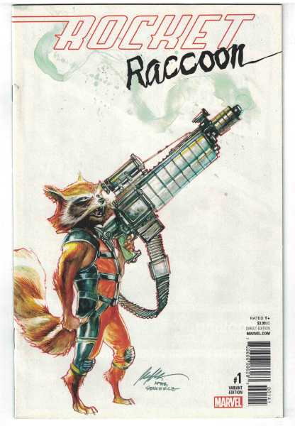Rocket Raccoon #1 1:25 Rafael Albuquerque Variant NOW Marvel 2016 VF/NM