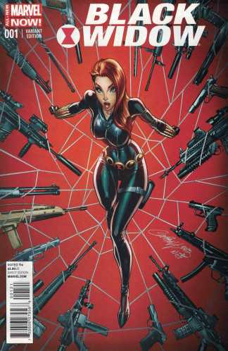 Black Widow #1 1:50 J Scott Campbell Color Variant Marvel 2014 ANMN