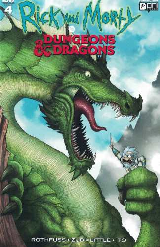 Rick and Morty vs Dungeons & Dragons #4 1:10 Incentive RI-A Variant IDW Oni 2018