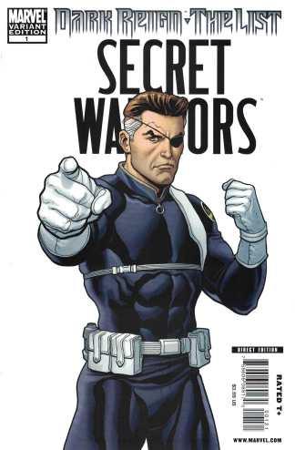 Dark Reign the List Secret Warriors #1 1:100 Frank Cho Nick Fury Variant