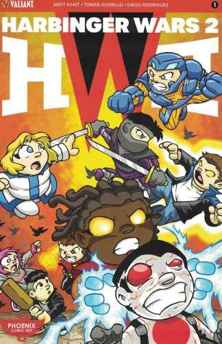 Harbinger Wars 2 #1 Phoenix Comic Fest Jeff Pina Variant Valiant 2018