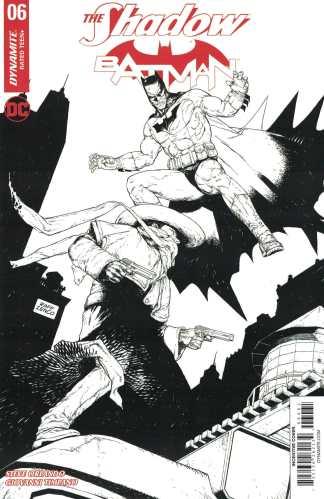 Shadow Batman #6 1:10 Ineco Black & White Sketch Variant Cover F