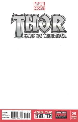 Thor God of Thunder #1 Blank Sketch Variant Marvel Now 2012 Jason Aaron Ribic