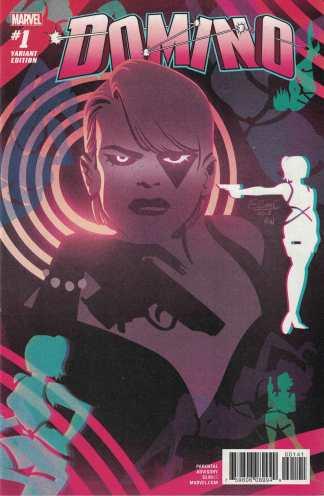 Domino #1 Charretier Variant Marvel 2018 X-Men Gail Simone