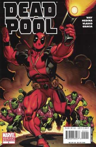 Deadpool #2 1:25 Ed McGuinness Secret Invasion Skrulls Variant Marvel 2008 Way