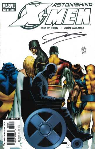 Astonishing X-Men #12 Dynamic Forces Signed by John Cassaday COA 122/149 Whedon