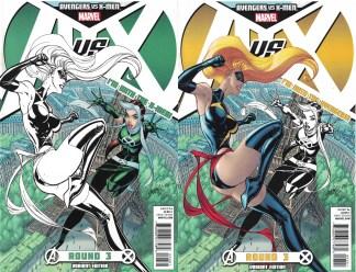 Avengers vs X-Men #3 Campbell Team A X Variant Set Ms Marvel Captain Rogue