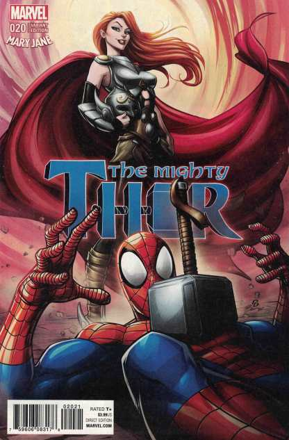 Mighty Thor #20 Brown Mary Jane Watson Variant Marvel 2015