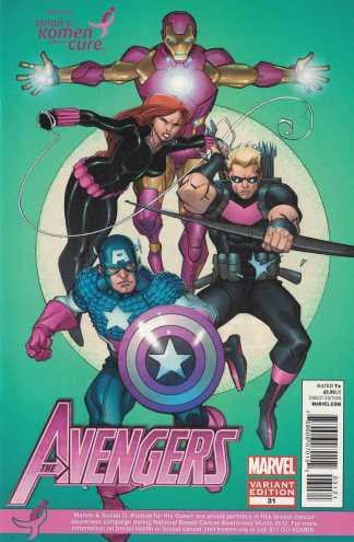 Avengers #31 Peterson Susan G Komen Pink Breast Cancer Variant Marvel 2010