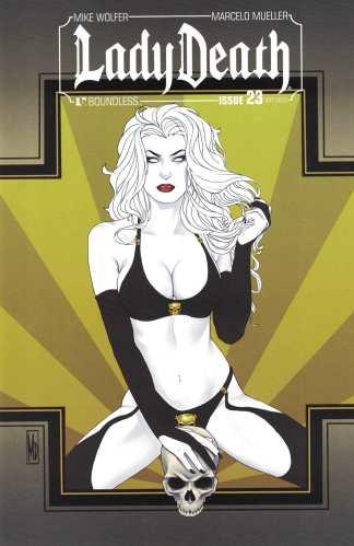 Lady Death #23 1:3 Michael DiPascale Art Deco Variant Boundless 2011