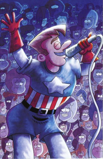 Rich Johnston's Captain American Idol #1 Fred Hembeck Variant
