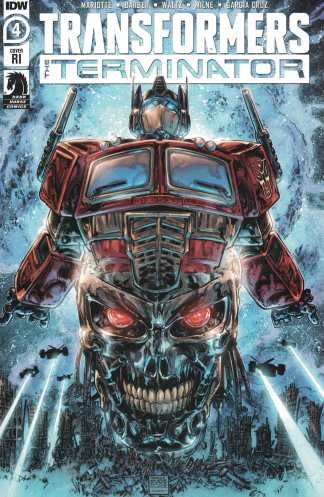 Transformers Terminator #4 1:10 Freddie Williams II Variant IDW 2020
