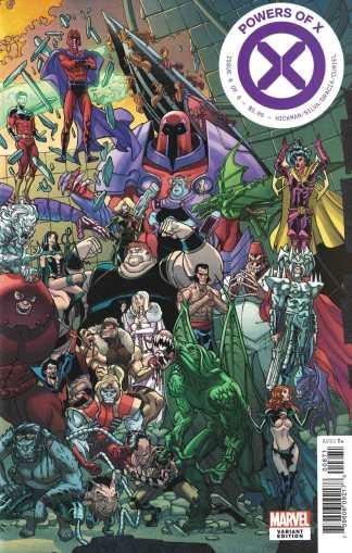 Powers of X #6 Javi Garron Connecting Variant Marvel 2019 House X-Men Hickman