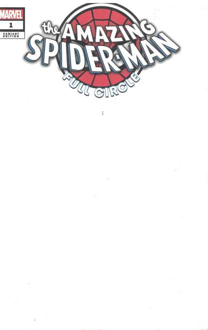 Amazing Spider-Man Full Circle #1 Black Sketch Variant Marvel 2019