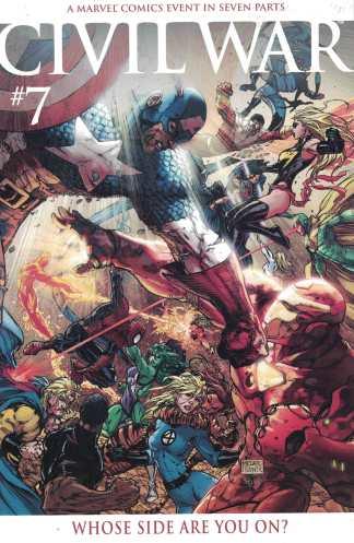 Civil War #7 1:15 Michael Turner Color Variant Marvel 2006 Mark Millar VF/NM
