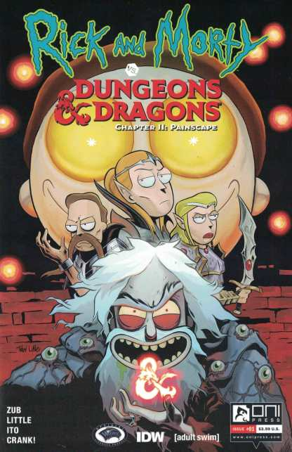 Rick and Morty vs Dungeons & Dragons Chapter II Painscape #1 NC Comicon Exclusive Glow in the Dark D&D Variant Limited to JUST 500 Copies!