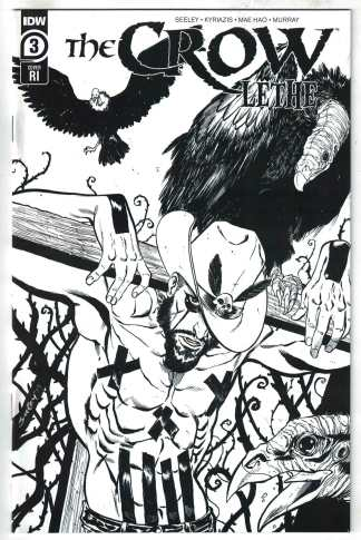 Crow Lethe #3 1:10 Tim Seeley B&W Variant IDW 2020 Null Narcos VF/NM