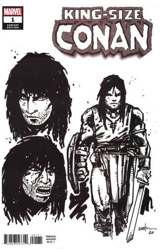 King-Size Conan #1 1:10 Kevin Eastman B&W Design Variant Marvel 2020
