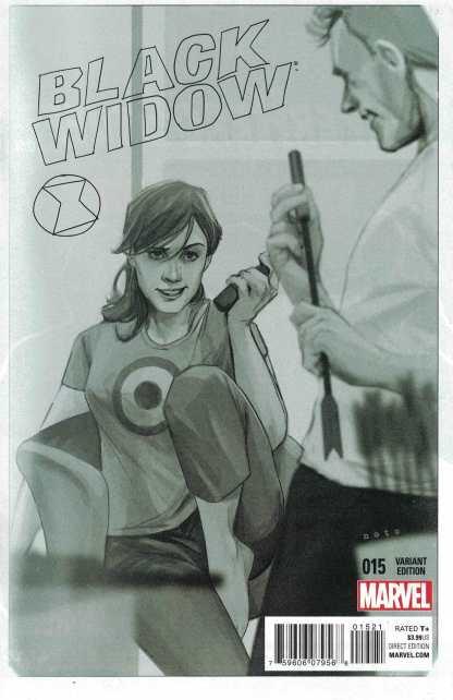 Black Widow #15 Phil Noto Vintage Variant Hawkeye Marvel ANMN 2014