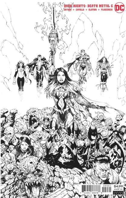 Dark Nights Death Metal #6 1:100 Greg Capullo B&W Variant DC 2020 Wonder Woman