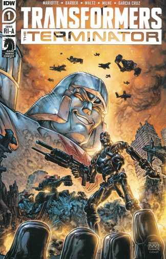 Transformers Terminator #1 1:10 Freddie Williams II Variant IDW 2020
