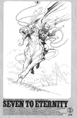 Seven to Eternity #6 Jerome Opena Sketch Cover D Image 2016 Remender NM