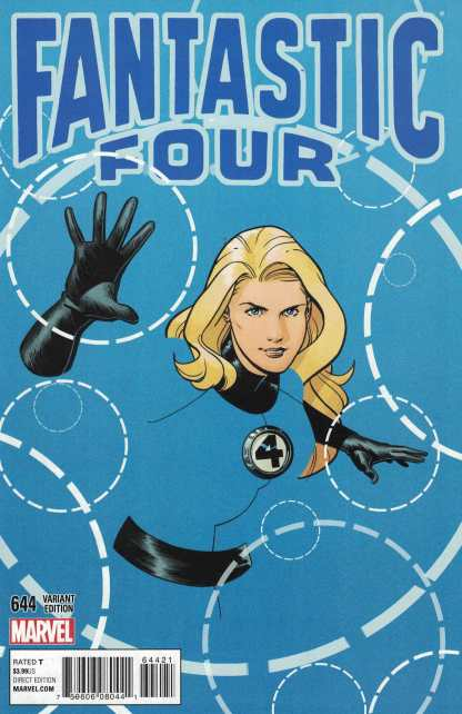 Fantastic Four #644 Schaner 1:15 Character Variant Invisible Woman Marvel 2014
