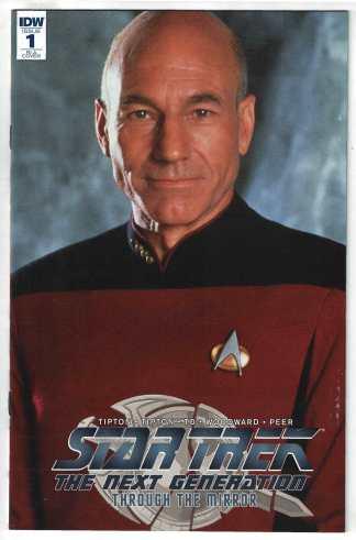 Star Trek TNG Through Mirror #1 1:10 Picard Photo Variant RI-A IDW VF/NM