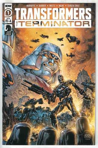 Transformers Terminator #1 1:10 Freddie Williams II Variant IDW 2020 VF/NM
