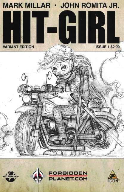 Hit-Girl #1 Forbidden Planet Exclusive John Romita Jr Sketch Variant 2012 Millar