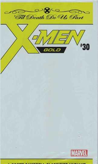 X-Men Gold #30 J Scott Campbell Classified Polybag Variant Marvel 2017