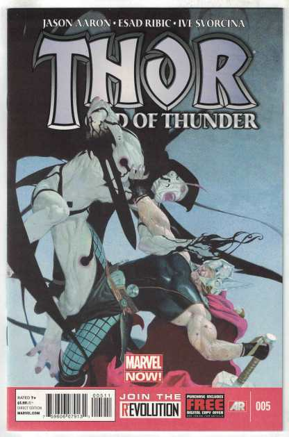Thor God of Thunder #5 Ribic 1st Print CVR A Marvel 2012 Gorr God Butcher VF/NM