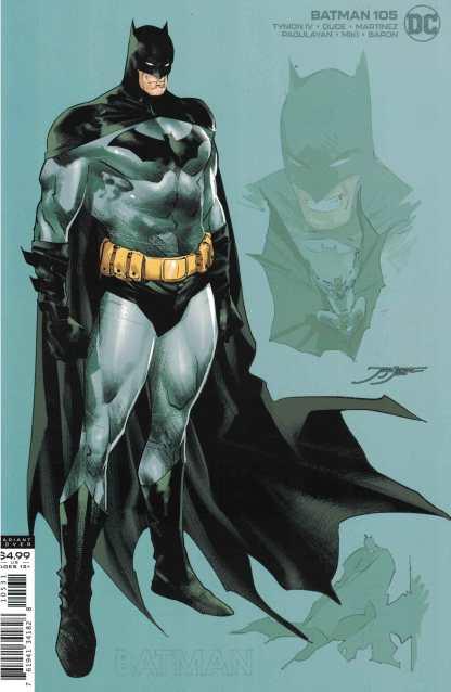 Batman #105 1:25 Jorge Jiminez Card Stock Design Variant DC 2016
