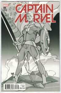 Captain Marvel #6 Pasqual Ferry B&W Variant Marvel 2016 Civil War II VF/NM