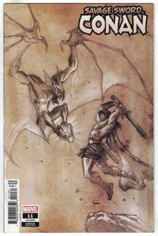 Savage Sword of Conan #11 1:50 Juan Ferreyra Pencils Variant Marvel 2019 VF/NM